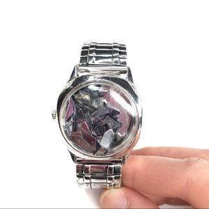Free People   Silver Confetti Watch Bracelet